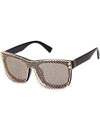 SHEEN KELLY Oversized mesh - schild linsen flieger metall sonnenbrille futuristische roboter rimless fIvQ1xl5