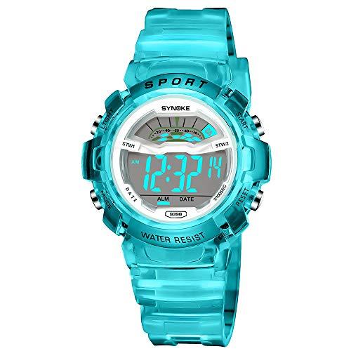 Bestow Reloj Deportivo LED Reloj de Fecha Reloj Digital Impermeable Luminoso Impermeable para ni?os...
