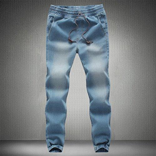 Bold Manner Herren Jeanshose Hellblau