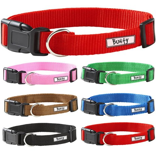Jazooli-Adjustable-Soft-Fabric-Dog-Puppy-Collar-with-Buckle-and-Clip-for-Lead