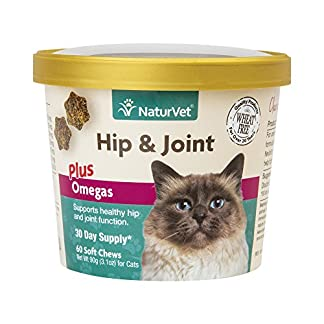 NaturVet Hip & Joint Plus Omegas for Cats, 60 ct Soft Chews, Made in USA NaturVet Hip & Joint Plus Omegas for Cats, 60 ct Soft Chews, Made in USA 51WEmZQolML