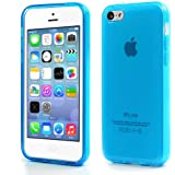 iProtect Schutzhülle iPhone 5c Hülle soft matt transparent blau