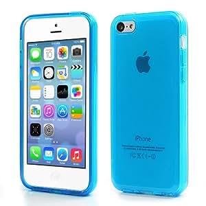 iProtect Schutzhülle iPhone 5c Hülle soft matt transparent blau