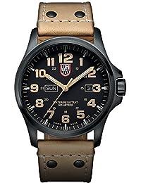 amazon co uk luminox watches luminox atacama field day date men s quartz watch black dial featuring llt luminox light technology 45 millimeters stainless steel
