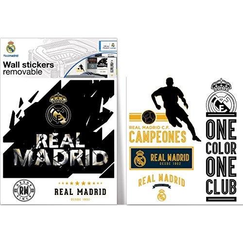 Bebegavroche Sticker Logo Noir et Or Real Madrid 40X50 cm
