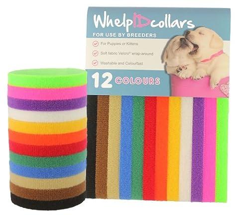 WhelpIDcollars Lot de 12Couleurs | fabriqué à partir de véritable Fermeture (Puppy Litter)