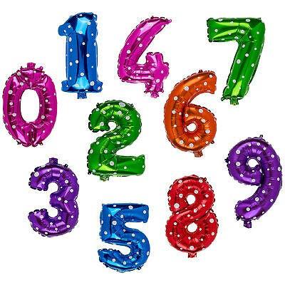"Toyland® 16 ""Green Spotty Number 7 Balloon - Partydekorationen"