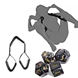 Fasce Collo Cinghie in Morbida Ecopelle Open Gamba Coscia Supporta - Sexy Dice Lover Set 4 Giochi di Coppia Role Play Sex Position Dice Party per Adulti Regalo Novità - Confezione da 2