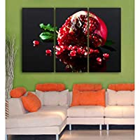 ASDZXC Broken Pomegranate 3 Pieces/Set Poster Wall Art Printed Fruit Canvas Painting For Modern Print Room