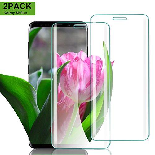 Nutmix Galaxy S9 Plus Verre Trempé, [Lot de 2] Couverture Complète Film Protection D'écran en Verre Trempé, Protecteur d'écran pour Galaxy S9 Plus, Ultra-mince, Dureté 9H, Ultra Résistant - Transparent