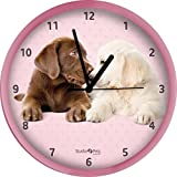 Labrador Retriever Hugs & Kisses Wanduhr