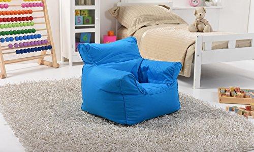 Lancashire Textiles Kinder Mini Bean Bag Sitz / Stuhl für Jungen und Mädchen in Drill Blue