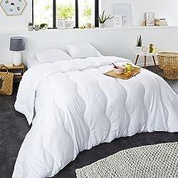 Sweetnight - Couette Hiver 400g/m² | 220x240cm | Chaude et Enveloppante | Anti Acariens | Gonflante Ultra Confort | Lavable