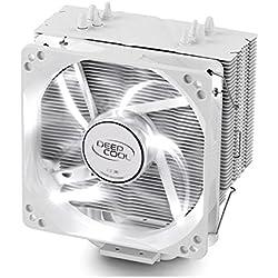 Deepcool Gammaxx 400 White Dissipatore Cooler 4 Heatpipes Ventola PWM da 120 mm LED BIANCO per CPU Intel AMD Compatibile AM4