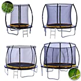 kanga 12ft Premium Trampoline with Safety Enclosure, Net, Ladder and Anchor Kit (12ft)
