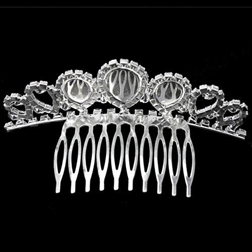 Peineta Diadema Corona Tiara de Rojo Acrílico Cristal Décor para Mujer Tocado