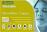 from rejuvopedic New Rejuvopedic 10 cms (4 Inch) Double Bed Microlite Microfibre Mattress Topper, Box Stitched, 230 TC Cover & Elasticated Corner Straps