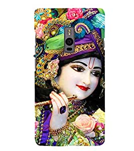 Lord Krishna 3D Hard Polycarbonate Designer Back Case Cover for OnePlus 2 :: OnePlus Two :: One +2
