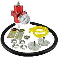 dpPerformance GmbH Universal regulador de presión de Gasolina 0–7Bar Ajustable (Color: Rojo)