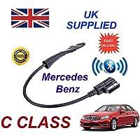 Mercedes Benz Clase C adaptador de Audio Bluetooth para mi 2009+ generación 3suietable para iPhone, Samsung, HTC, Sony, Nokia