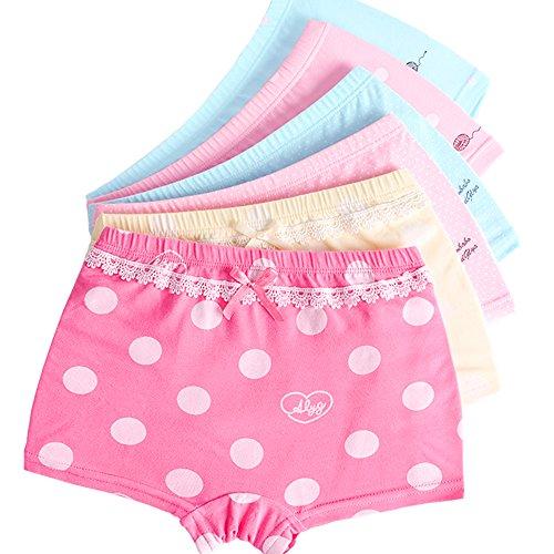 LeQeZe 6er Pack Kinder Mädchen Pantys Unterhose Baumwolle Schlüpfer Unterwäsche Boxershorts Slips 2-11 Jahre Größe 85-145 (Girls 6 Pack/02, 2-3Jahre)