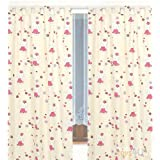 kinderzimmer gardine vorhang kindergardine elefanten rot doppelpack 200 cm. Black Bedroom Furniture Sets. Home Design Ideas