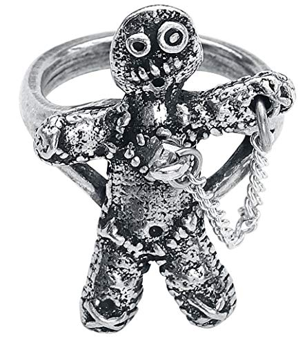 Alchemy Gothic Voodoo Doll Ring Standard S