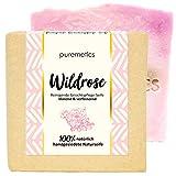 puremetics Zero Waste reinigende Gesichtspflege-Seife'Wildrose' | 100% natürlich, vegan &...