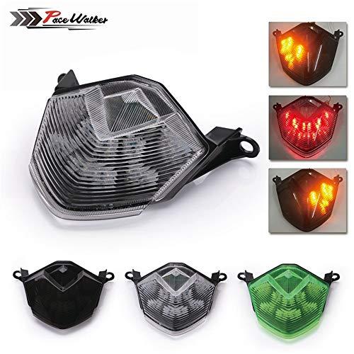 sal Ersatz Reparatur Motorrad Teile Motorrad LED Rücklicht Blinker Licht KAWASAKI ZX-10R 08-10 ZX-6R 636 Z750 Roller (Color : Black) ()