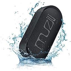 Enceinte Bluetooth, Muzili Haut-Parleur sans Fil Mode Stéréo 15heures Durée de Lecture IPX7 Étanche 22M Portée de Transmission Assistant Vocal Fonction d'Arrêt Automatique (1)
