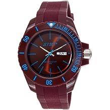 Jet Set J83491-13 - Reloj analógico de cuarzo unisex, correa de caucho color marrón