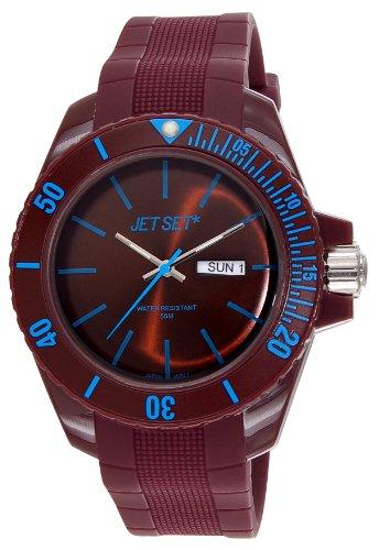 Jet Set–J83491-13Bubble Rubber Strap Unisex Watch–Analogue Quartz–Brown Dial–Brown