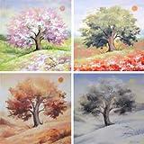 iovivo Bild 4 Jahreszeiten 30x30 cm, 4er-Set von Olga Koschkina