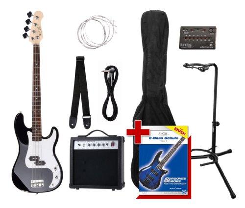 Rocktile Groover's Pack PB E-Bass Set II Black Groover's Pack + Rockt. Stimmgerät + CC Ständer