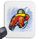 Tapis de Souris (Mousepad) Traîneau Traîneau Apres Sports d'hiver de ski ... Le cadeau idéal pour les amis - des connaissances ou des collègues de travail ... pour votre ordinateur portable, ordinate