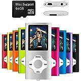 Mymahdi MP3 / MP4 Portable Player, Silber mit 1,8 Zoll LCD-Bildschirm und Micro SDHC Kartensteckplatz, Max Support 128GB Micro SD TF Karte