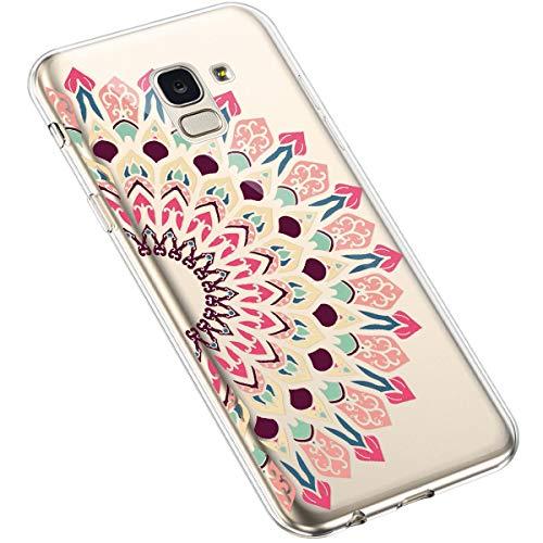 Kompatibel mit Xiaomi Mi6 H/ülle,Xiaomi Mi6 Schutzh/ülle,Pr/ägung Mandala Blumen Sonnenblume Muster PU Lederh/ülle Flip H/ülle Cover Schale St/änder Etui Wallet Tasche Case Schutzh/ülle f/ür Xiaomi Mi6,Grau