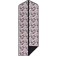 "Concept Covers Stylish 65"" (165cm) Garment / Suit Cover Bag - Small Retro Lady Print - 100% Cotton Panama Inc Full Length Zip, Hanger Opening & Folding Loop"