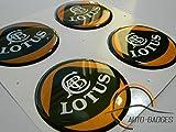LOTUS Set di 4 badge autoadesivo 50mm di plastica ad Applicare per coperture del mozzo