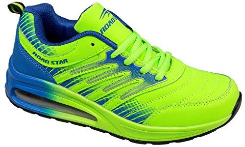 Gibra Scarpe Sportive, Molto Leggere E Comode, Neon Verde / Blu, Taglia 36-41 Verde Neon / Blu