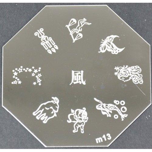 Nail Art emboutissage des tôles - M01 CODE : M13-plaque