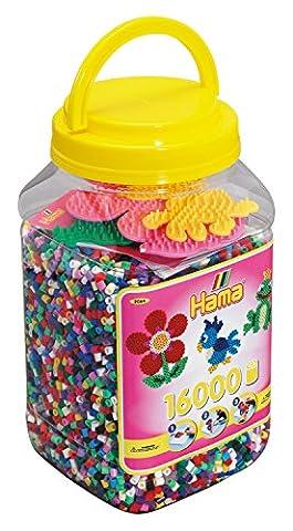 Hama 2064 - Dose mit 3 Stiftplatten und circa 16000 Perlen