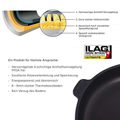 51WEzfBdEGL - Eurolux Aluminium-Guss Grillplatte für INDUKTION (mit Seitengriffe) 41 x 24 x 2,5 cm in Premium Qualität (A Ware, Neueste Serie) 1 Monat Geldzurückgarantie! - Made in Germany - PFOA-Free