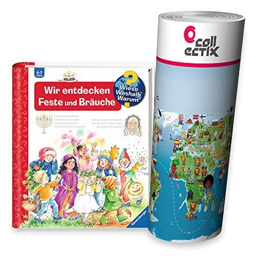 Ravensburger Kinder Buch - Wir entdecken Feste und Bräuche   Wieso? Weshalb? Warum? - Sachbuch ab 4 Jahre   Weihnachten, Ostern, Silvester und Feste Anderer Kulturen