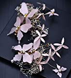 MDRW-Bridal Hochzeit Ballsaal Haarnadel Haarschmuck Nheaddress weiß Xian Schöner Schmetterling Blume Blume Heu Seite spannen Ehe Gaze Kleid Handmade Jewelrypink