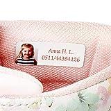 Ikast Etikett selbstklebende Namensetiketten für Kinder | Individuell bedruckte Etiketten für Kleidung & Textilien | Waschbar bis 40°C | 90 Stück