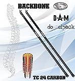2 Stk. DAM Backbone BOLO, 6,00m, 5-25G - Bologneserute (Doppelpack)