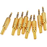 WEONE 3,5 mm stereo in lega di zinco maschio connettore Audio Adapter Plug (Pack of 8)