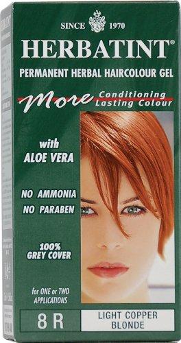 Tinta per capelli colorazione permanente senza ammoniaca naturale herbatint 265 ml n. 8 r colore biondo chiaro ramato