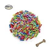 Mobengo - Mini mollette colorate in legno naturale, per foto, carta, lavori artigianali, 100pezzi con spago